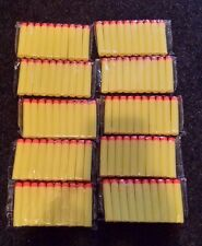 "100pcs 2.63"" Nerf Bullet Darts Replacement N-STRIKE Toy Guns YELLOW USA SHIPPER"