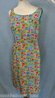Maggy London Floral Lined Silk Hawaiian Sleeveless Evening Party Dress Size 4