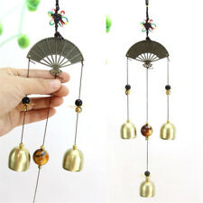 Chinese Style Fan Multiple Pipes Chime Bronze Garden Room Decoration Windchime Q