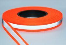 5m Reflektierendes Band / Reflektorband 20mm breit - orange - zum Aufnähen