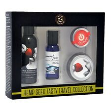 Hemp Seed Tasty Travel Collection Strawberry Edible Massage Oil.Made in the USA.