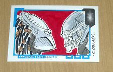 2007 Inkworks Aliens/Predator Requiem sketch art card Dan Cooney 1/1 155/300