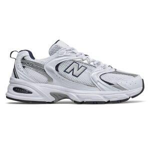 (New Balance530) Retro White Silver Navy Running Shoes MR530SG Comfort Men/Women