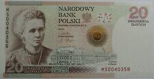 2011 20 zlotych Maria Sklodowska-Curie Commemorative Banknote Poland Polen UNC