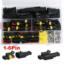 708pcs 1-6Pin 12V Waterproof Electrical Wire Connector Plug Cable For Car Truck