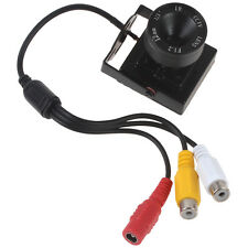 Mini 12mm Lens HD 600TVL 1/3 CMOS Home Security Audio Video Color CCTV Camera