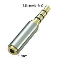 Gold 3.5mm Male to 2.5mm Female Stereo Audio Headphone Adapter Converter Jack