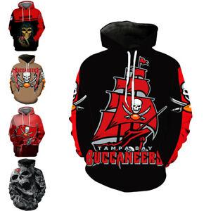 Tampa Bay Buccaneers Hoodies Hooded Sweatshirt Men's Casual Pullover Jacket Coat