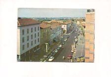 Cartolina CECINA Livorno Corso Matteotti Panoramica animata auto d'epoca vg 1980