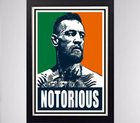 Conor McGregor Notorious Glossy Poster 11in x 17in 24in x 36in