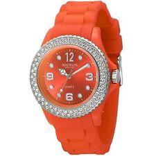 Madison New York Damenuhr JUICY GLAMOUR Orange, veredelt mit SWAROVSKI® ELEMENTS