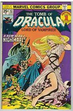 TOMB OF DRACULA #43 1976 GOOD GIRL ART COVER MARVEL BRONZE AGE!