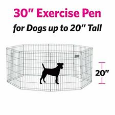 "30"" Tall Dog Playpen Crate Fence Pet Play Pen Exercise Cage"