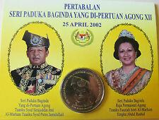 "Malaysia 1 ringgit 2002 ""Accession of Yang di-Pertuan Agong XII"" UNC KM# 74"