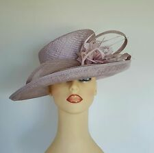 Ladies Formal Hat Wedding Races Mother Bride Pale lilac Glass Beads by Medici