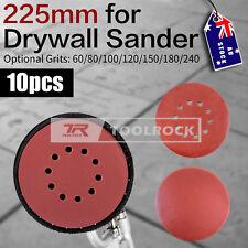"""Toolrock 10pcs Sanding Discs Hook & Loop Plaster for Drywall Sander Pad 9"""" 225mm"""
