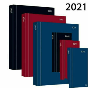 2021 A4 / A5 / A6 Diary Day A Page or Week To View Desk Diary Hard Backed Dairy