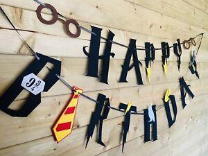 HARRY POTTER⚡️Themed Birthday Banner Event Party Room Felt Decor 3m 🦉