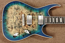 Dean Exile Select Burl Poplar Electric Guitar Satin Turquoise Burst, EMG w/Tap
