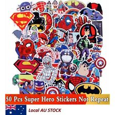 50x Super Hero Cartoon Style Mix Stickers For Kids Skateboard Laptop Luggage
