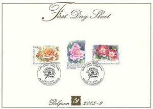 [FDS155] Belgium FDS 2005-9 Flowers First Day Sheet SUPERB