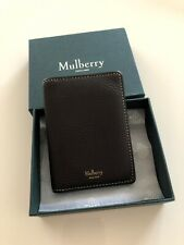 Mulberry Chocolate Brown Natural Vegetable Tanned Leather Bifold Card Wallet