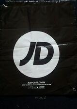 New JD Sports Drawstring Duffle Bag. School Gym Swim. Black. Strong Waterproof