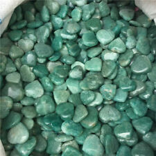 Wholesale Price!10Pcs Natural Amazonite Quartz Crystal Healing love Heart Shape