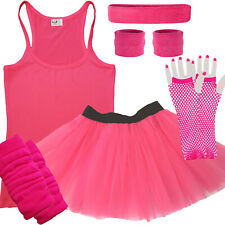 Pink Tutu Skirt Adult 80's Race for Life Fancy Dress Hen Do party costume outfit