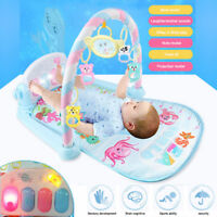 3-in-1 Piano Music Lullaby Baby Toy Fitness Playmat Cushion Gym Play Soft Mat AU