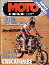 MOTO JOURNAL  491 YAMAHA 350 RDLC RD LC National Fantic ITALJET PARIS DAKAR 1981