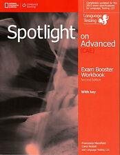 Cengage SPOTLIGHT ON ADVANCED (CAE) Exam Booster Workbook 2nd Ed w Audio CDs New