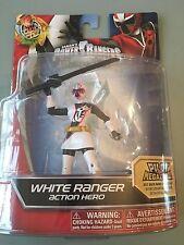 Power Ranger Ninja Acero Ranger Blanco Nuevo en Sellado Blister vendedor del Reino Unido