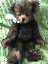 """Nancy Rygg Brown Teddy Bear Jointed & Weighted Plush 17"""""""