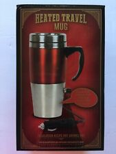 Stainless Steel 15oz Heated Travel Mug Insulation Keep Hot&Cold W/ 12Vdc Adapter