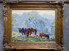 Edward Volkert oil painting Cows Grazing Early Morning Cincinnati, Ohio A COPY!