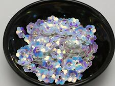 1000 White Cup Flower loose sequins Paillettes 10mm sewing Wedding craft