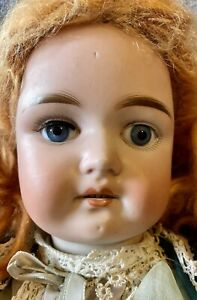 """Antique 24"""" Max Handwerck German Bisque Doll With Incredible Outfit And Wig"""