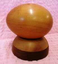 Tasmanian Huon Pine Egg on  Base