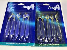 "2 Packs- ANGELO Chandelier Lamp Crystal Clear 3"" Hanging Prisms Pendant 70312"