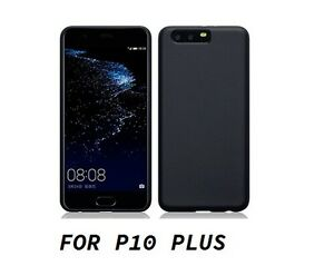 Cover case custodia HUAWEI P10 PLUS TPU ultra slim silicone nera morbida 0,3mm