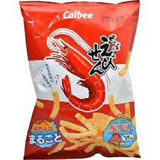 Japanese Food Snack Calbee Shrimp Flavored Crunchy Stick Chips Kappa Ebi-Sen90g