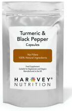 Turmeric & Black Pepper Capsules NOT Tablets Curcumin High Strength  60 - 360