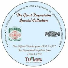 The Great Depression Collection of Official Guides & Equipment Registers on DVD