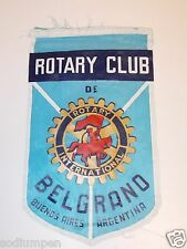 Vintage BELGRANO Buenos Aires Argentina Rotary International Club Banner Flag