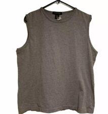 Kenneth Cole Gray Sleeveless Shirt, Size Large