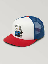 Volcom Libeerty Cheese Snapback TRR red blue white Trucker Cap NEUWARE portofrei