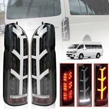 Tail Lights Rear Lamp Smoke Black LED For Toyota Hiace Commuter Van 2005-2018