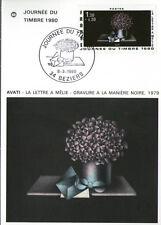 CPA 1ER JOUR - TIMBRE N°2078  - 08.03.1980 - LA LETTRE A MELIE, GRAVURE D'AVATI