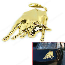 New 3D Golden Chrome Metal Bull Ox Emblem Car Truck Motor Sticker Auto Decal